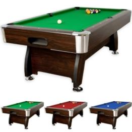 """8 ft Billardtisch """"Premium"""", 3 verschiedene Farbvarianten, massive Ausfhrung + Zubehr (2x Queue, Kugelset, Dreieck, Kreide, Brste) Pool Billard 8 Fu -"""