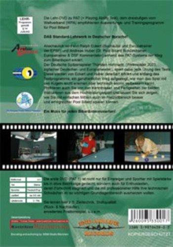 Pool Billard Trainings DVD PAT 1. Mit dem offiziellen Spielvermögenstest der WPA -