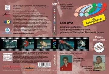 Pool Billard Trainings DVD PAT 3. Mit dem offiziellen Spielvermögenstest der WPA inkl. Psychologie CD ( DVD ) -
