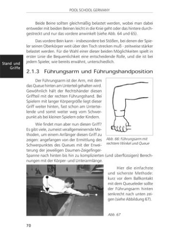 Trainingsmethoden der Pool School Germany: Grundlagen des Poolbillard
