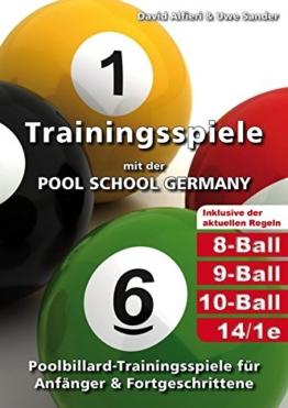 Trainingsspiele mit der POOL SCHOOL GERMANY: Poolbillard-Trainingsspiele für Anfänger & Fortgeschrittene inklusive der aktuellen Poolbillard-Regeln -